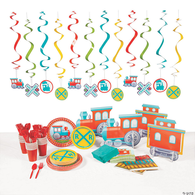 Train Party Tableware Kit for 24 Guests Image Thumbnail
