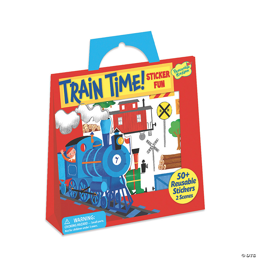 Train Time Reusable Sticker Tote Image Thumbnail