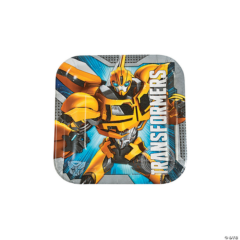 8ct Transformers Paper Cake Plates