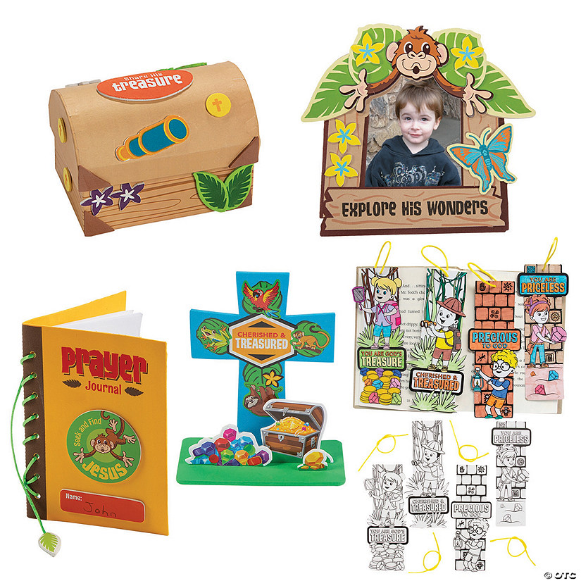 Treasure Hunt VBS Craft Assortment for 12 Image Thumbnail