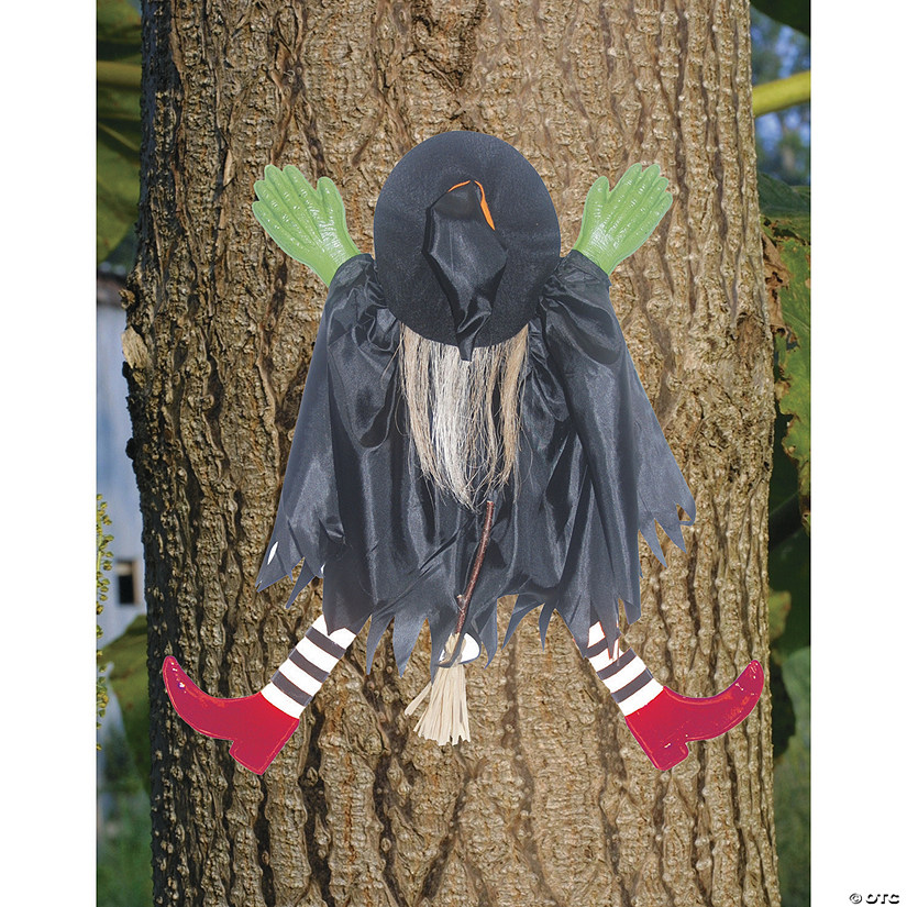 Tree Trunk Witch With Red Shoes Halloween Decoration Audio Thumbnail