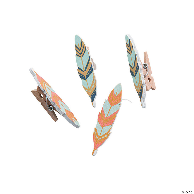 Tribal Baby Shower Clothespins Image Thumbnail