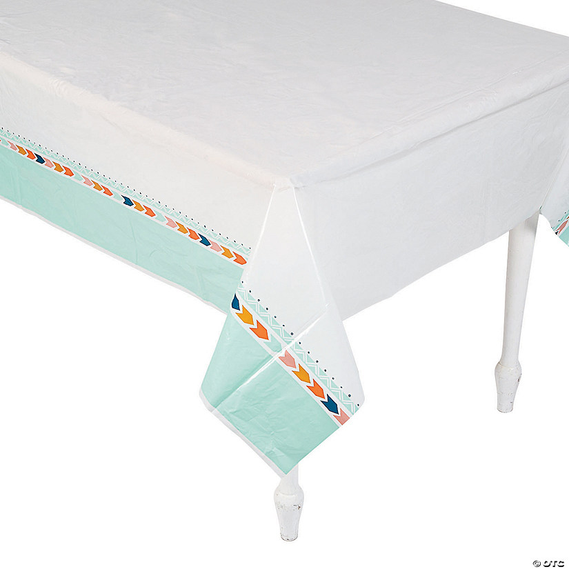 Tribal Baby Shower Plastic Tablecloth Image Thumbnail