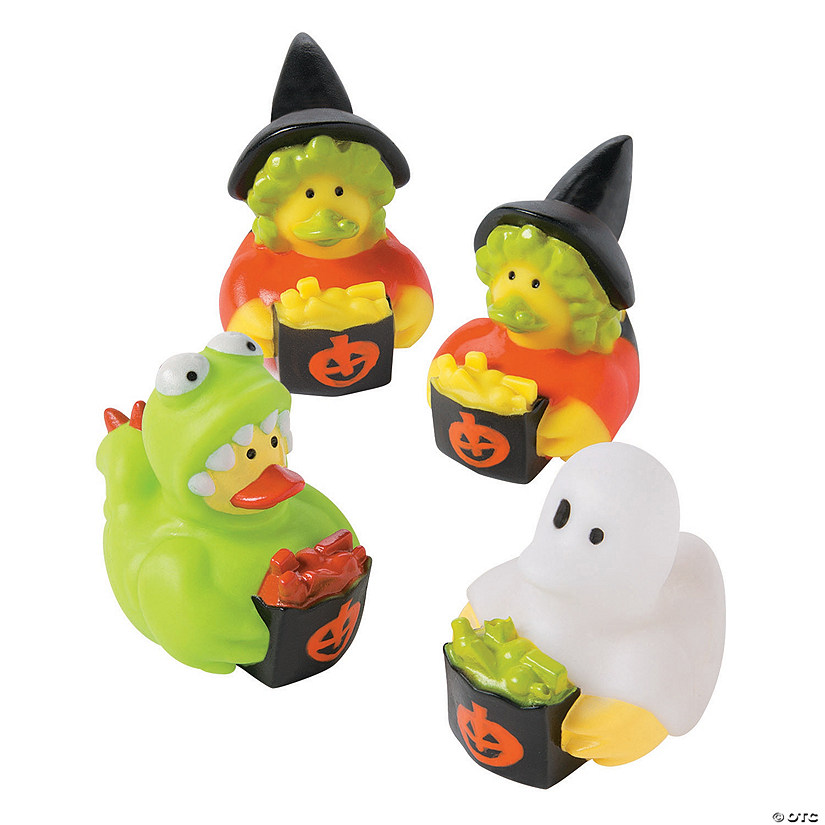 Trick-or-Treating Rubber Duckies Image Thumbnail