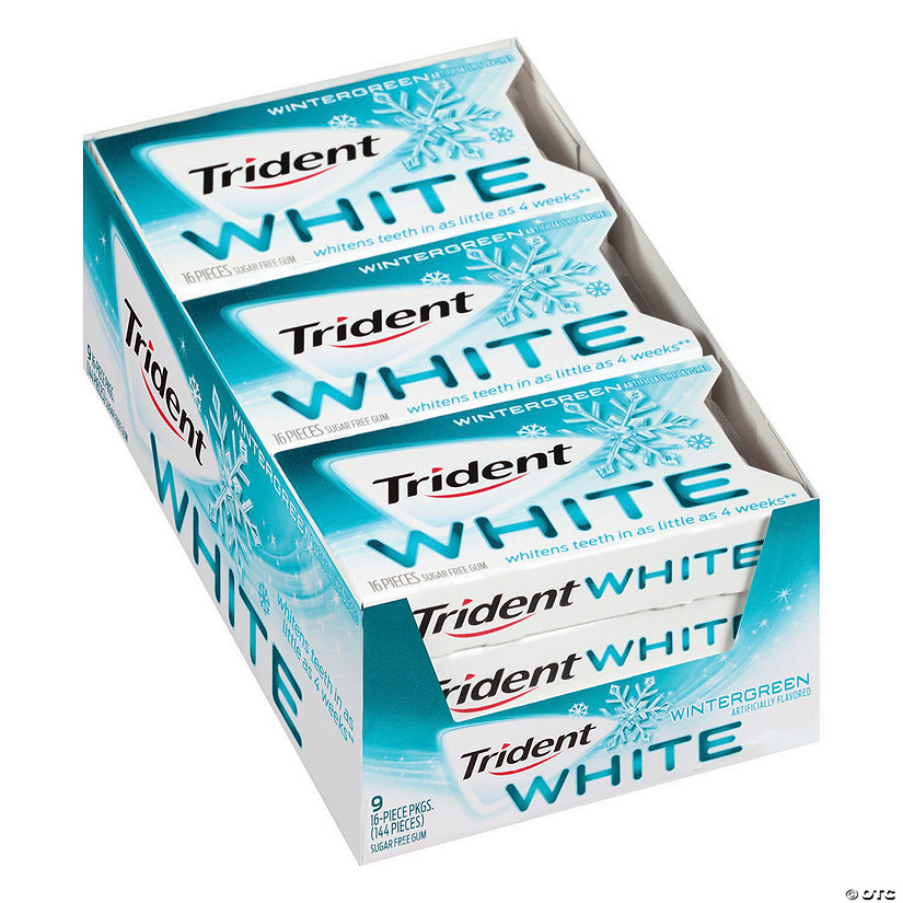Trident White Wintergreen Sugar-Free Gum, 16 Pieces, 9 Count Image Thumbnail
