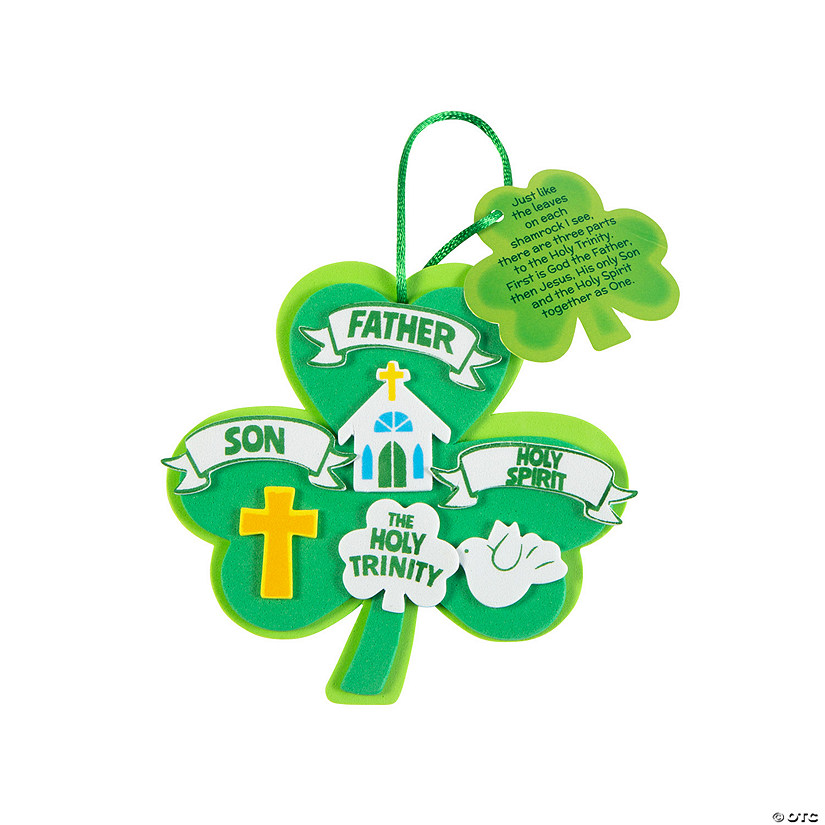 Trinity Lucky Shamrock Ornament Craft Kit Image Thumbnail