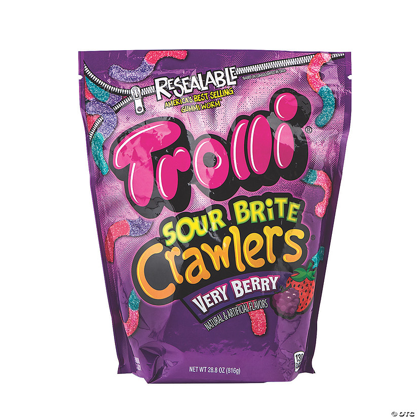 Trolli<sup>&#174;</sup> Very Berry Sour Brite Crawlers<sup>&#174;</sup> Gummy Candy Image Thumbnail