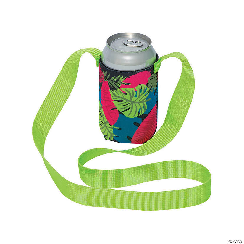 Tropical Can Coolers with Lanyards Audio Thumbnail