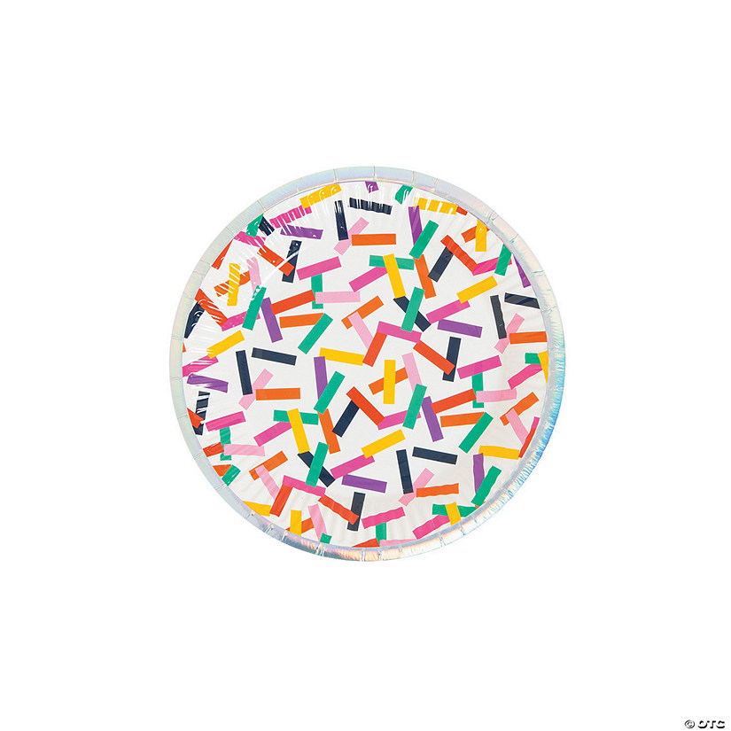 Tropical Confetti Paper Dessert Plates - 8 Ct. Audio Thumbnail