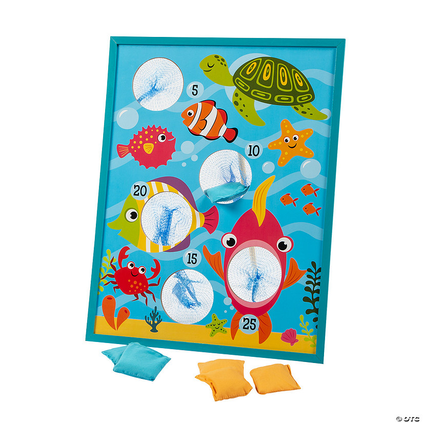 Tropical Fish Bean Bag Toss Game Image Thumbnail