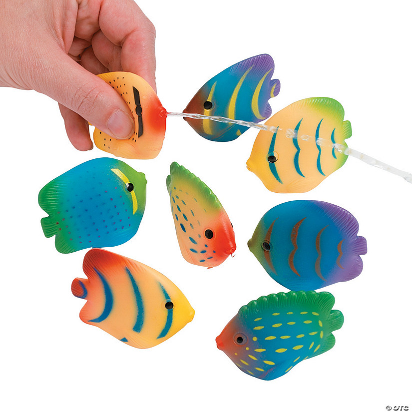 Tropical Fish Mini Squirt Toys Image Thumbnail