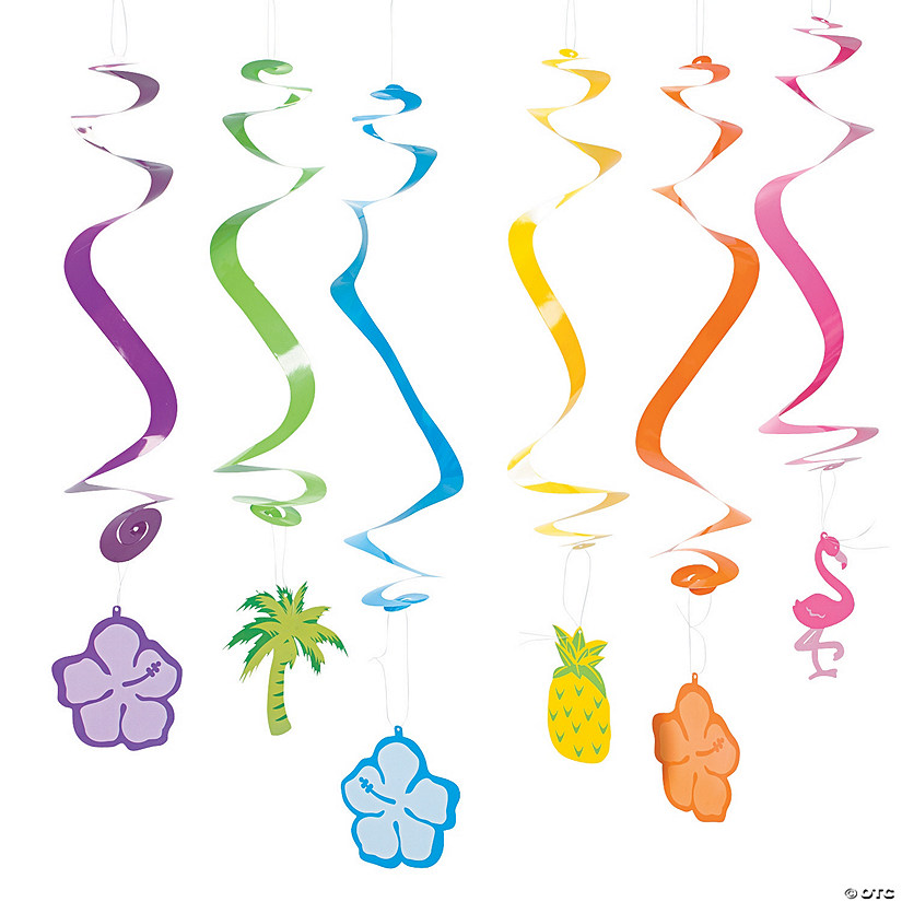 Tropical Hanging Swirl Decorations - 12 Pc. Audio Thumbnail