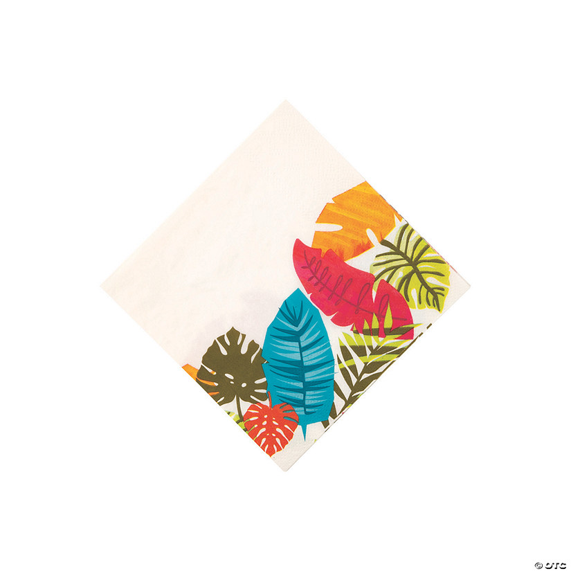 Tropical Leaf Beverage Napkins Audio Thumbnail