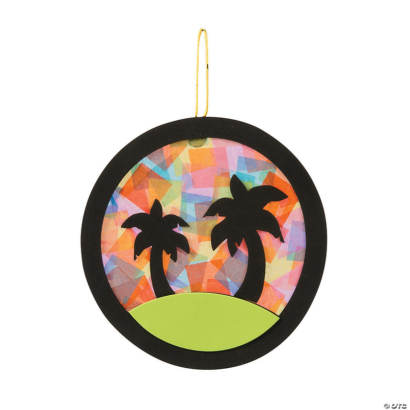 Tropical Palm Tree Tissue Paper Craft Kit Audio Thumbnail