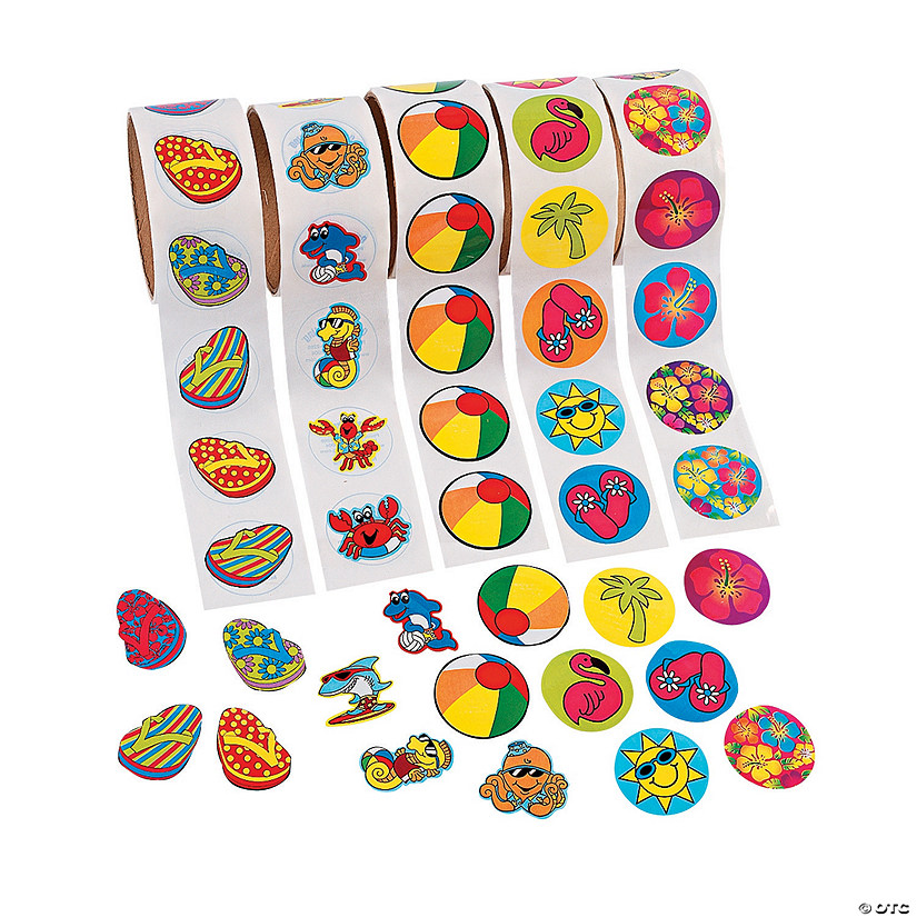 Tropical Rolls of Sticker Assortment Audio Thumbnail
