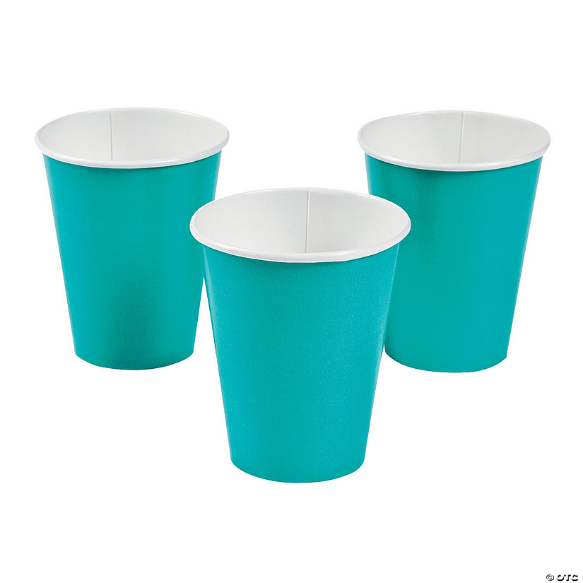 Tropical Teal Paper Cups