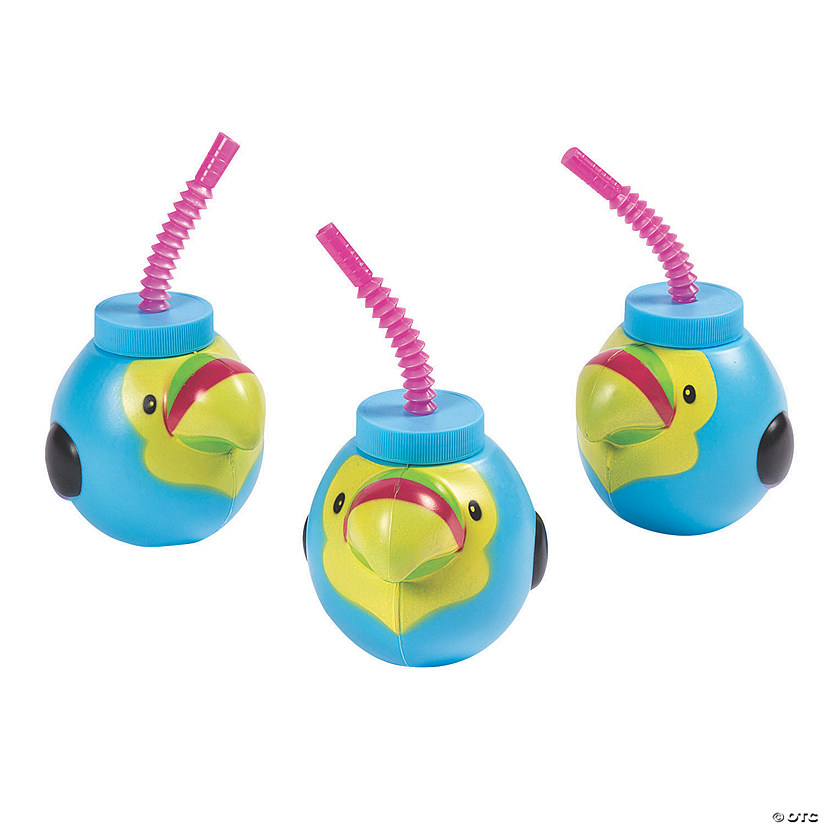 Tropical Toucan Cups with Lids & Straws Audio Thumbnail
