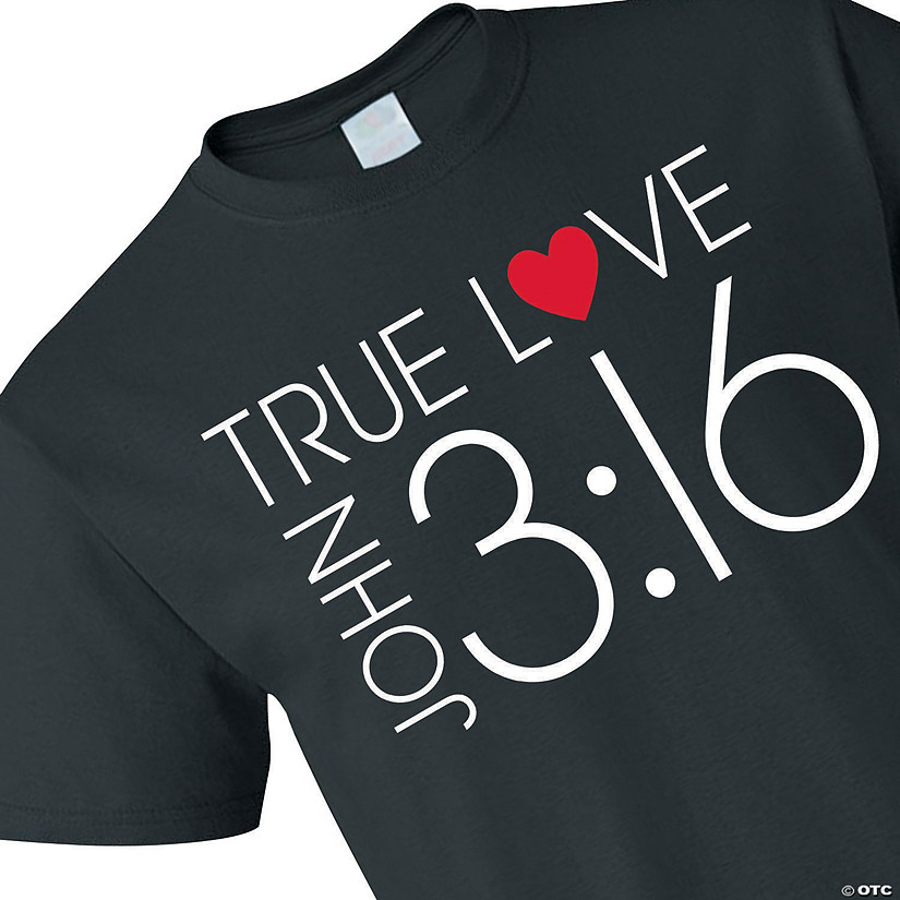 True Love John 3:16 Adult's T-Shirt Image Thumbnail