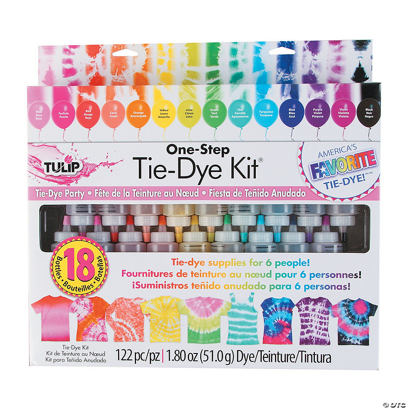 Tulip<sup>&#174;</sup> One-Step 18-Color Tie-Dye Boredom Buster Kit Image Thumbnail