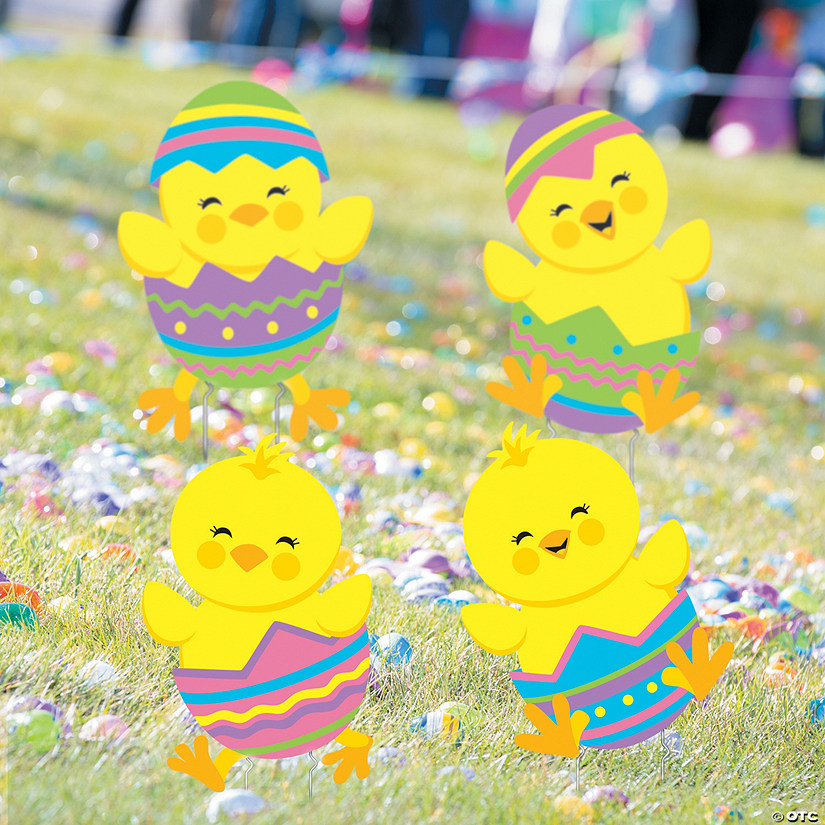 Tumbling Easter Chicks Yard Stakes Image Thumbnail