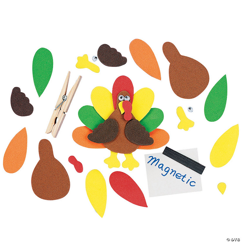 Turkey Clothespin Magnet Craft Kit