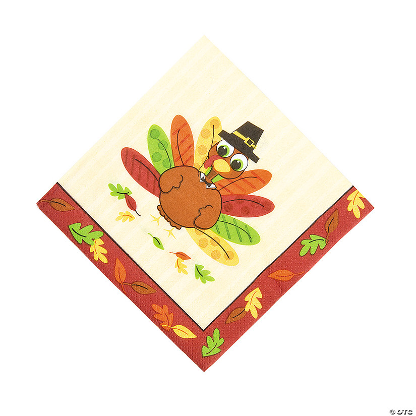 Turkey Fun Luncheon Napkins