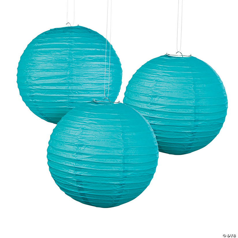 Turquoise Hanging Paper Lanterns Audio Thumbnail