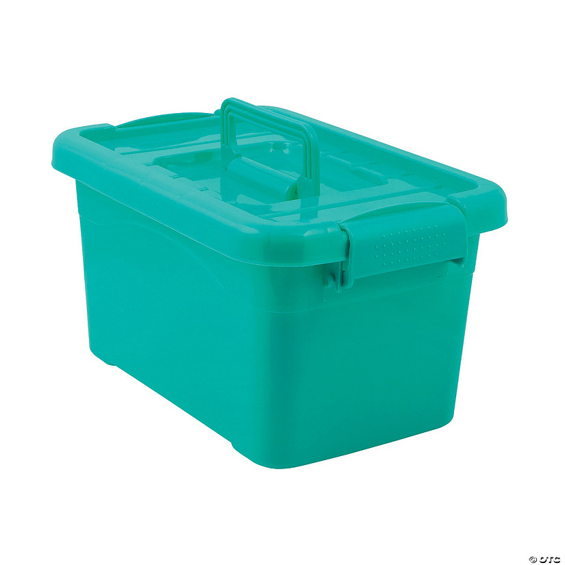 Turquoise Large Locking Storage Bins with Lids