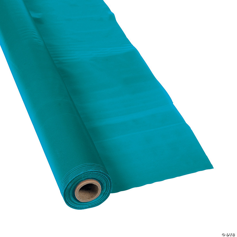 Turquoise Plastic Tablecloth Roll