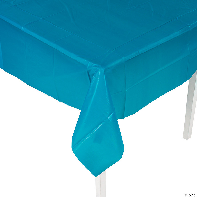 Turquoise Plastic Tablecloth Audio Thumbnail