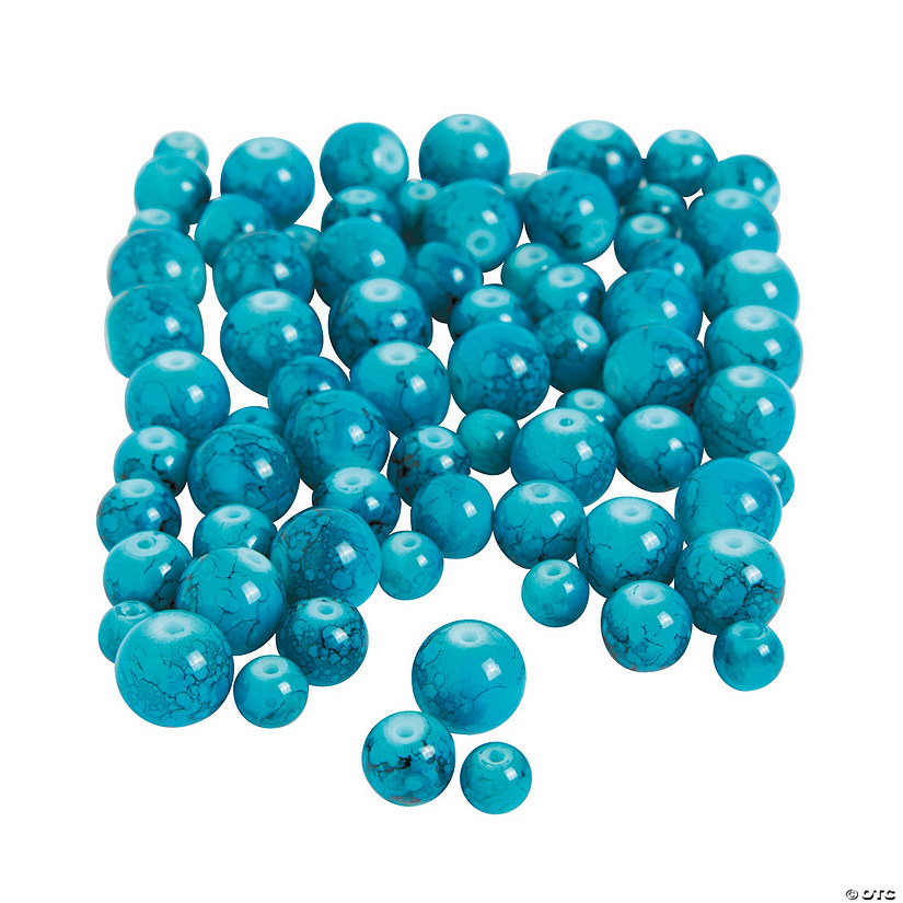 Turquoise Round Beads - 6 mm-10mm Audio Thumbnail