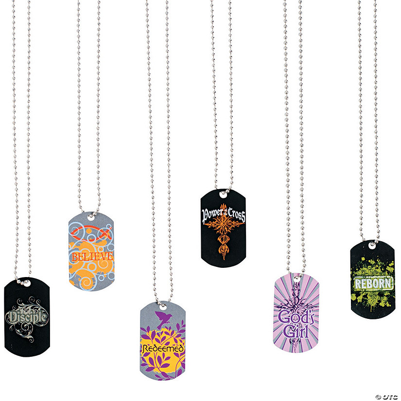 Tween Religious Dog Tag Necklaces