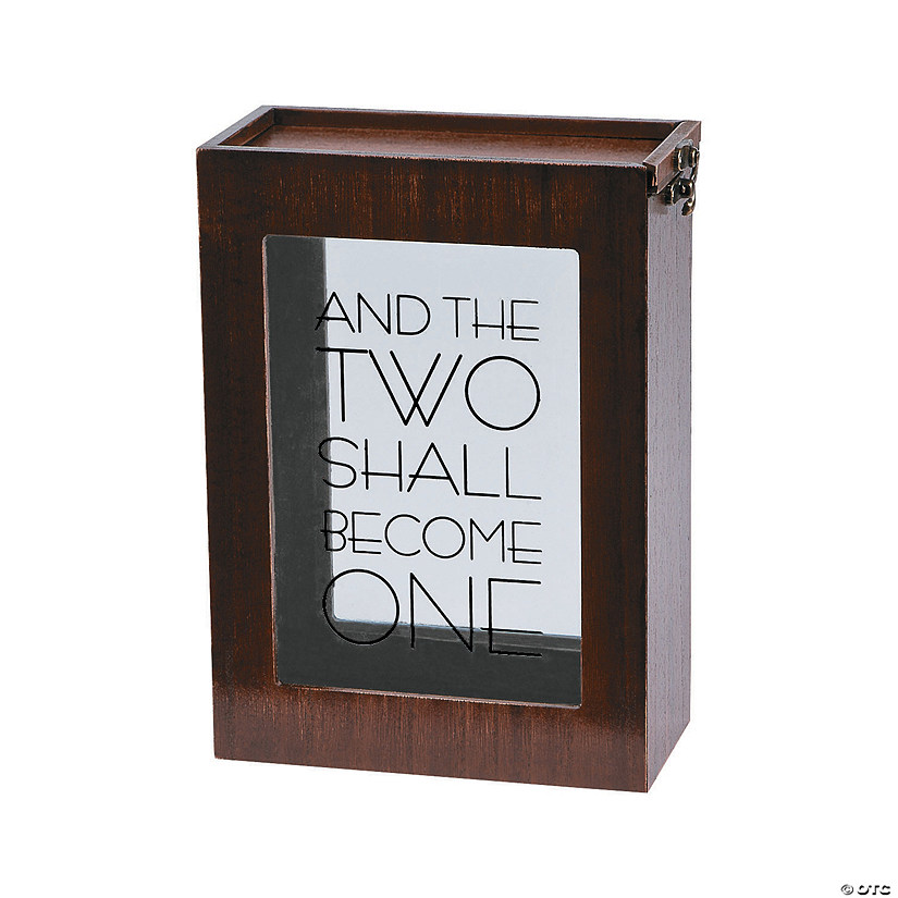 Two Become One Sand Ceremony Shadow Box