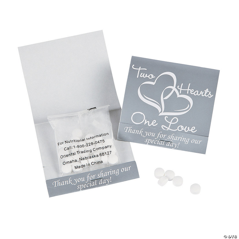 Two Hearts Matchbook Mints