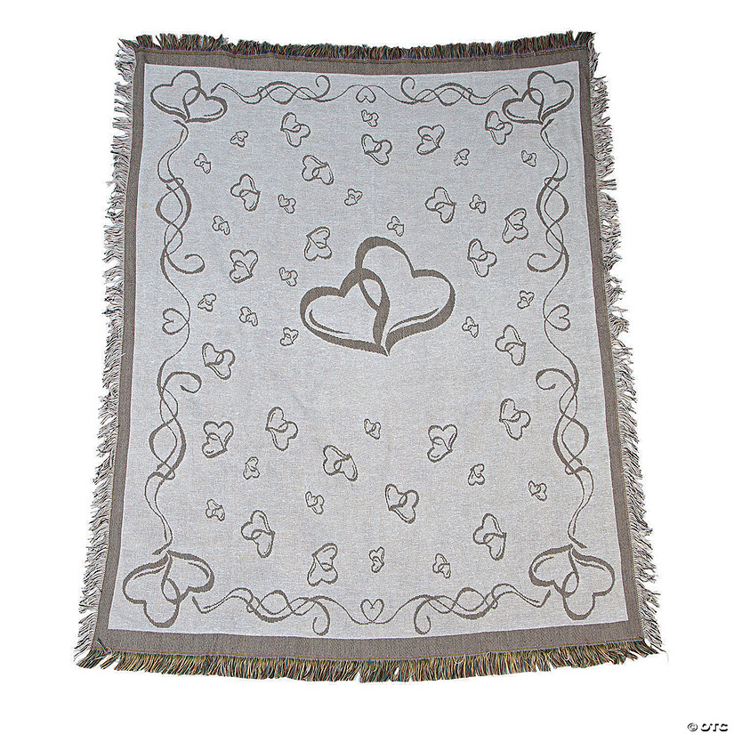 Two Hearts Wedding Throw
