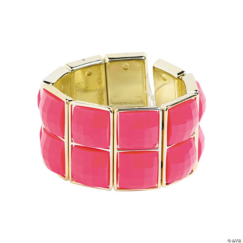 Two Square Pink Bracelet Craft Kit