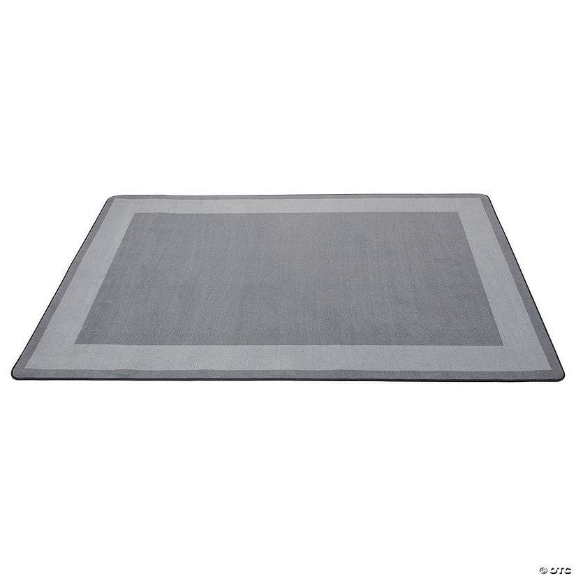 Two-Tone Area Rug 6ft x 9ft Rectangle - Grey Audio Thumbnail