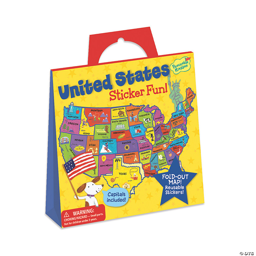U.S. Map Reusable Sticker Tote Image Thumbnail