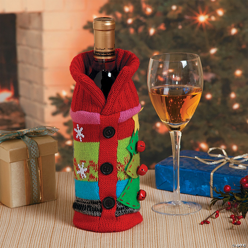 Ugly Christmas Sweater Bottle Bag