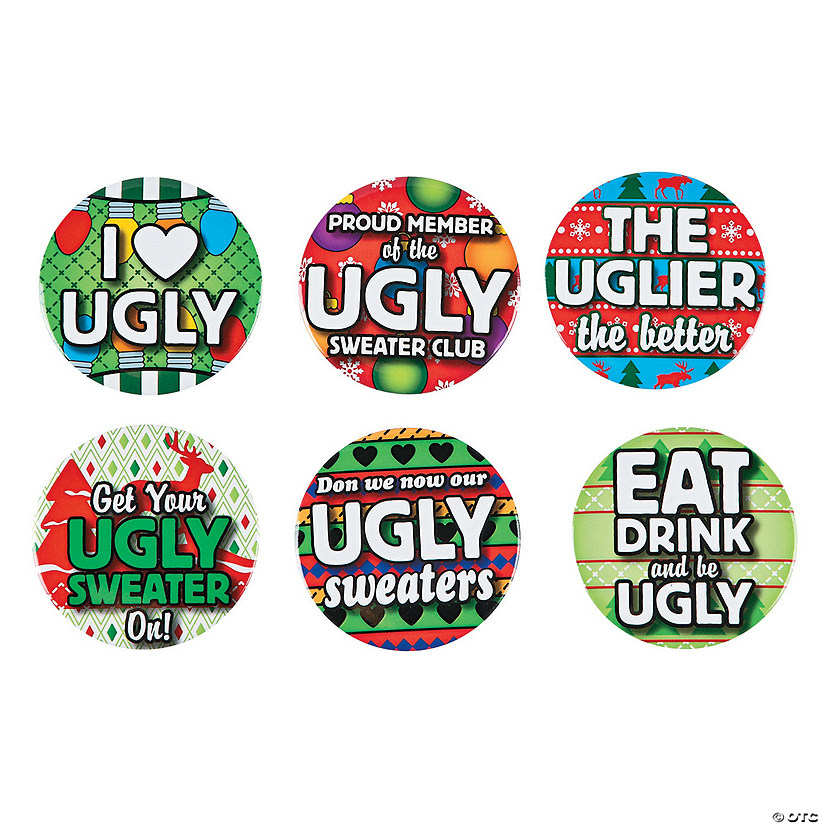 Ugly Sweater Buttons Image Thumbnail
