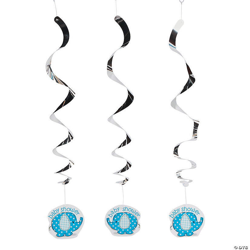 Umbrellaphants Blue Hanging Swirl Decorations - 3 Pc. Audio Thumbnail