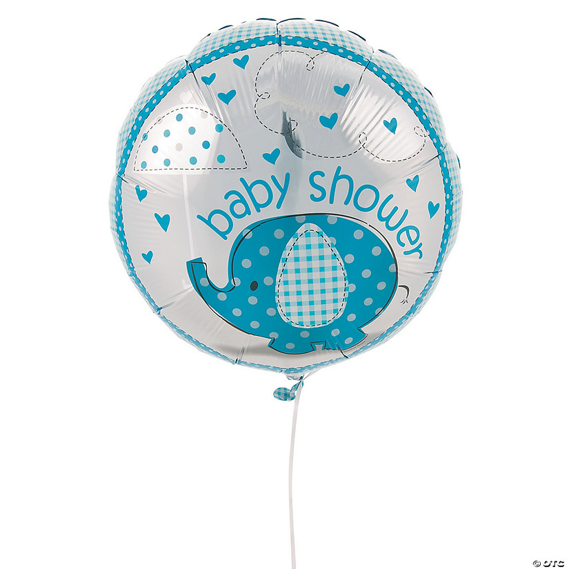 Umbrellaphants Blue Mylar Balloon