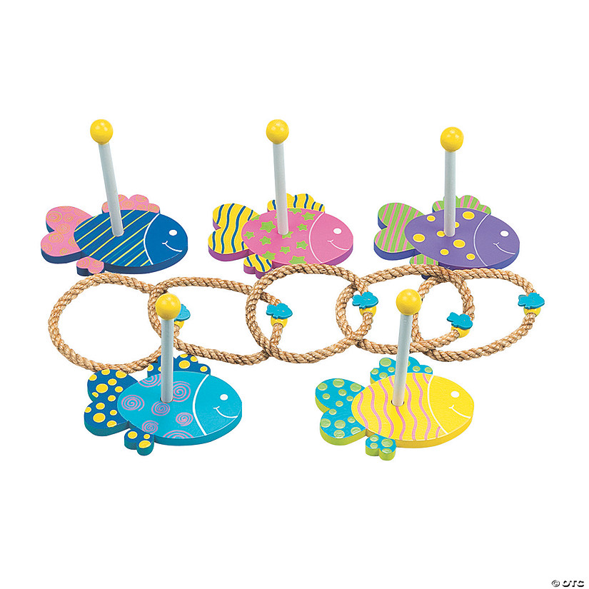 Under the Sea Wooden Ring Toss Game