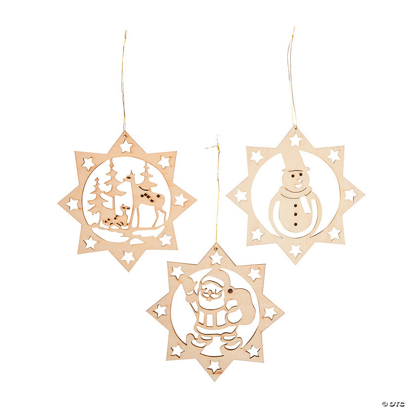 unfinished wood diy christmas ornaments