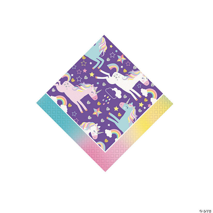 Unicorn Birthday Beverage Napkins Audio Thumbnail