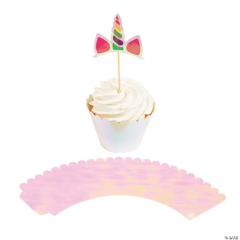 Unicorn Cupcake Wrappers with Picks | Oriental Trading