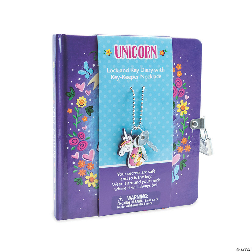 Unicorn Diary with Charm Necklace Image Thumbnail