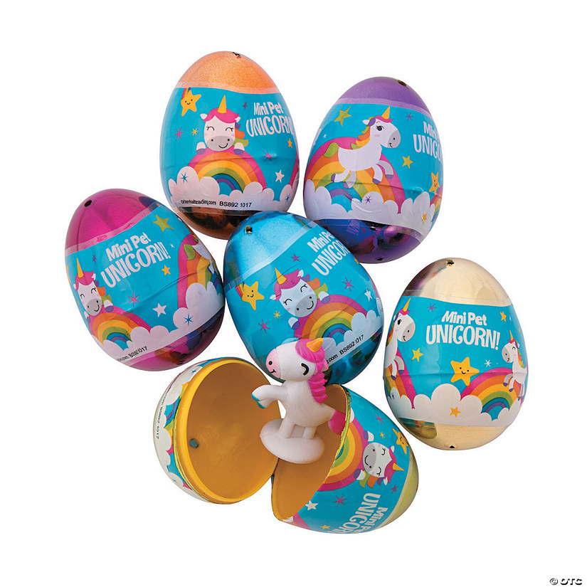 Unicorn-Filled Plastic Easter Eggs - 12 Pc. Audio Thumbnail