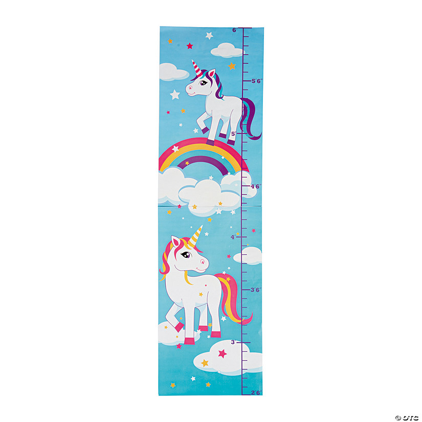 Unicorn Growth Chart Wall Decoration Discontinued