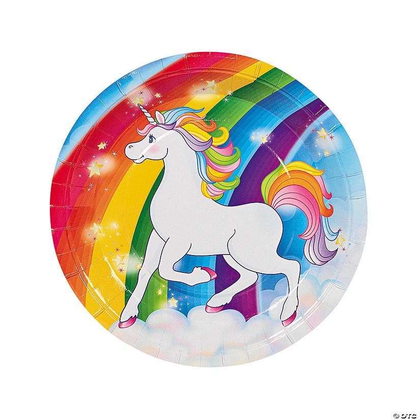 Unicorn Paper Dinner Plates - 8 Ct. | Oriental Trading